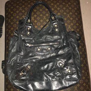 Balenciaga Giant Silver Hardware Shoulder Bag